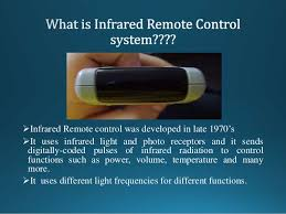 what is infrared light used for ir remote control system