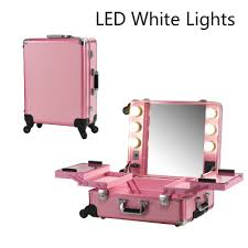 professional makeup lighting portable pink led white light makeup lights professional rolling