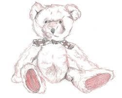 teddy illustration print nursery art teddy bear sketch hand