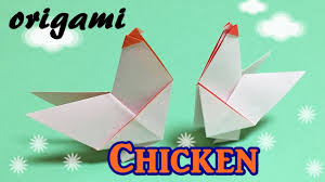 origami easy instructions for kids how to make a paper chicken