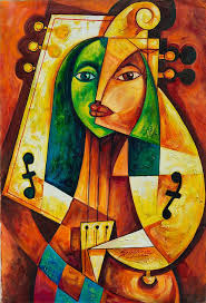 salazar s specialty is to infuse the afro cuban woman with al instruments in the cubist