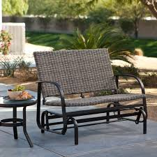 White Wicker Glider Loveseat by Have To Have It Coral Coast Beachwood Wicker Outdoor Glider
