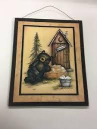 cabin bathroom decor ebay