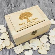 Personalized Wooden Boxes Aliexpress Com Buy Rustic Wedding Guestbook Custom Wooden