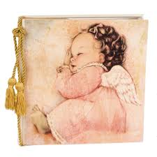 baby photo albums terra traditions 8x10 photo album angel baby pink terra