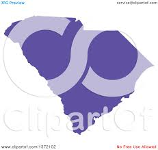 State Map Of South Carolina by Clipart Of A Purple Silhouetted Map Shape Of The State Of South