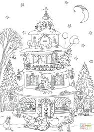 click house coloring pages gingerbread print easy printable