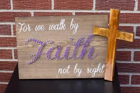 Faith Home Decor by Walk By Faith String Art Bible Jesus God Church Decor