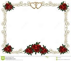 red roses border wedding invitation stock photos image 8494633