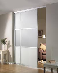 beautiful sliding room divider design idea in gray with two panels