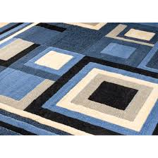Modern Floor Rug Rugs Curtains Dazzling Blue Geometric Area Rug For Modern