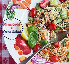 summer vegetable orzo pasta salad fireworks orzo salad its yummi