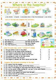 city places prepositions of place