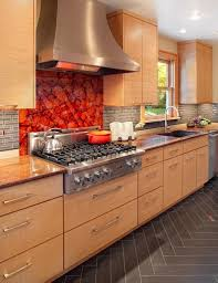 Pictures Of Stainless Steel Backsplashes by 50 Best Decorating Behind The Range Images On Pinterest
