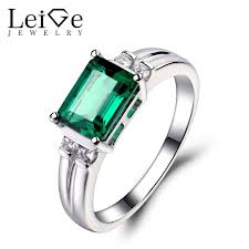 fine emerald rings images Leige jewelry emerald ring sterling sliver 925 fine jewelry jpg