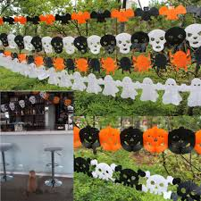 halloween garlands paper parachute skeleton for halloween party decor props hanging