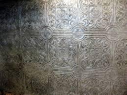 Wall Paper Backsplash - wallpaper that looks like tile backsplash diy faux antique tin