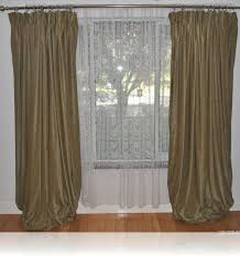 Jcpenney Silk Drapes by Decor Green Penneys Curtains With Silver Curtain Rods And White