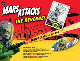 2017 topps mars attacks the revenge trading cards first ever sequel