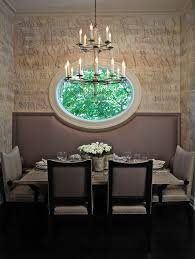 Dining Room Drum Chandelier by Oval Window Dining Room Contemporary With Typography Drum