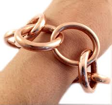 copper link bracelet images Heavy mexico copper chain link toggle bracelet taxco 925 jpg