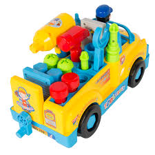 go lights for trucks best choice products bump n go toy truck with electric drill and