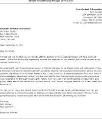 sample housekeeper cover letter hospital housekeeper cover letter