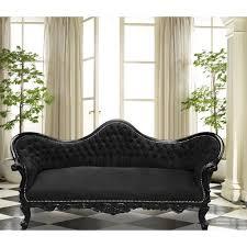 canapé baroque canapé baroque napoléon iii tissu velours noir et bois laqué noir