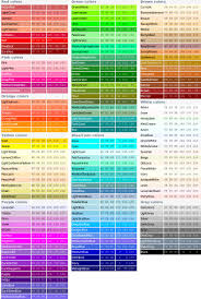 shades of gray names official html color codes list color swatch for clothes