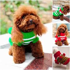 2018 Trendy Stripe Pet Dog Puppy Apparel Cute Knitting Cotton