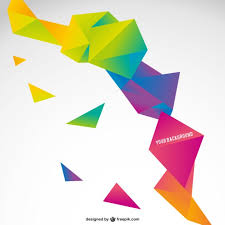 origami colorful abstract template vector free download