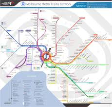 Metro Rail Map by Unofficial Future Map Melbourne Metro Train Transit Maps