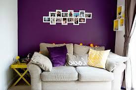purple livingroom purple living room walls metal end table transparent bay