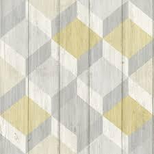 wood geometric grandeco copenhagen geometric pattern wallpaper wood effect a29103