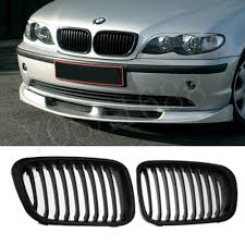 discount matte black grille grill for bmw e46 1998 2001 4 door
