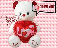 valentines day teddy bears best valentines teddy gift musical i you 13 inches
