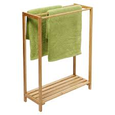 depiction of stylish free standing towel racks for outstanding