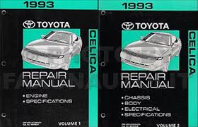 1990 1993 toyota celica body collision repair shop manual original