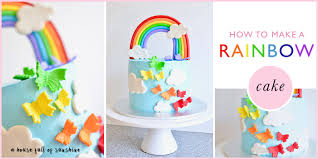how to make a rainbow birthday cake a house full of sunshine
