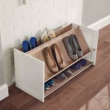 closetmaid multi level 3 tier 12 pair stackable shoe rack