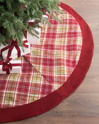 plaid tree skirt farmhouse plaid tree skirt balsam hill