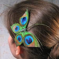 peacock hair accessory from etsy popsugar