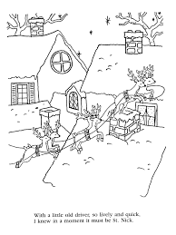 twas the night before christmas printable coloring pages many