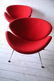 interesting pair of orange slice chairs by pierre paulin for artifort with pierre paulin orange slice chair