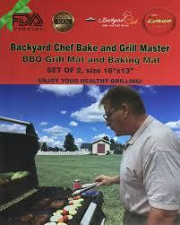 amazon com backyard chef bake and grill master grill mat baking