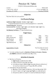 pilot resume template pilot resume exles matthewgates co