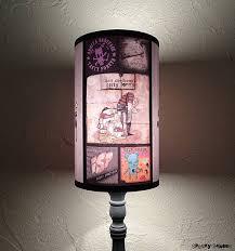 punk rock lamp shade lampshade lighting gift for him