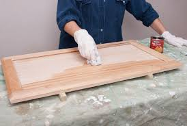 how to stain an unfinished cabinet door how to stain and finish wood cabinets