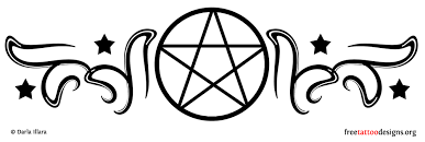 bee pentagram tattoo design photos pictures and sketches