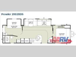 used fleetwood rv prowler 2802bds travel trailer at fun town floor